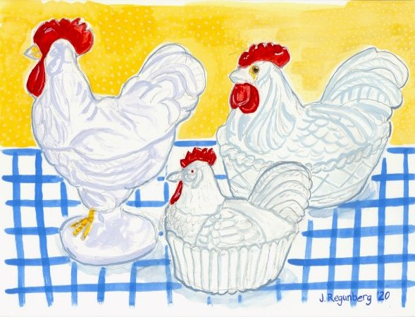 Chickens on Nests