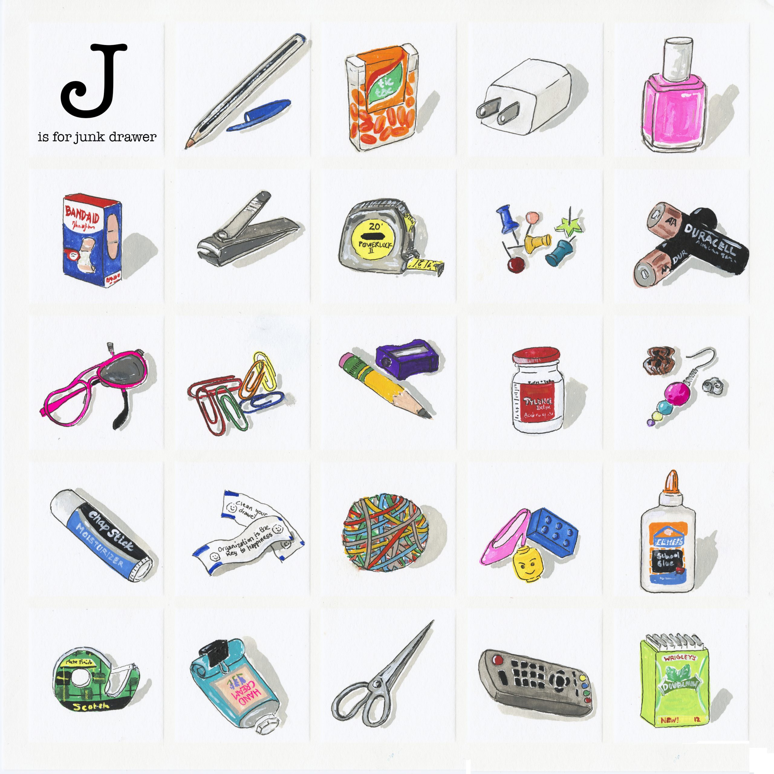 J is for Junk Drawer