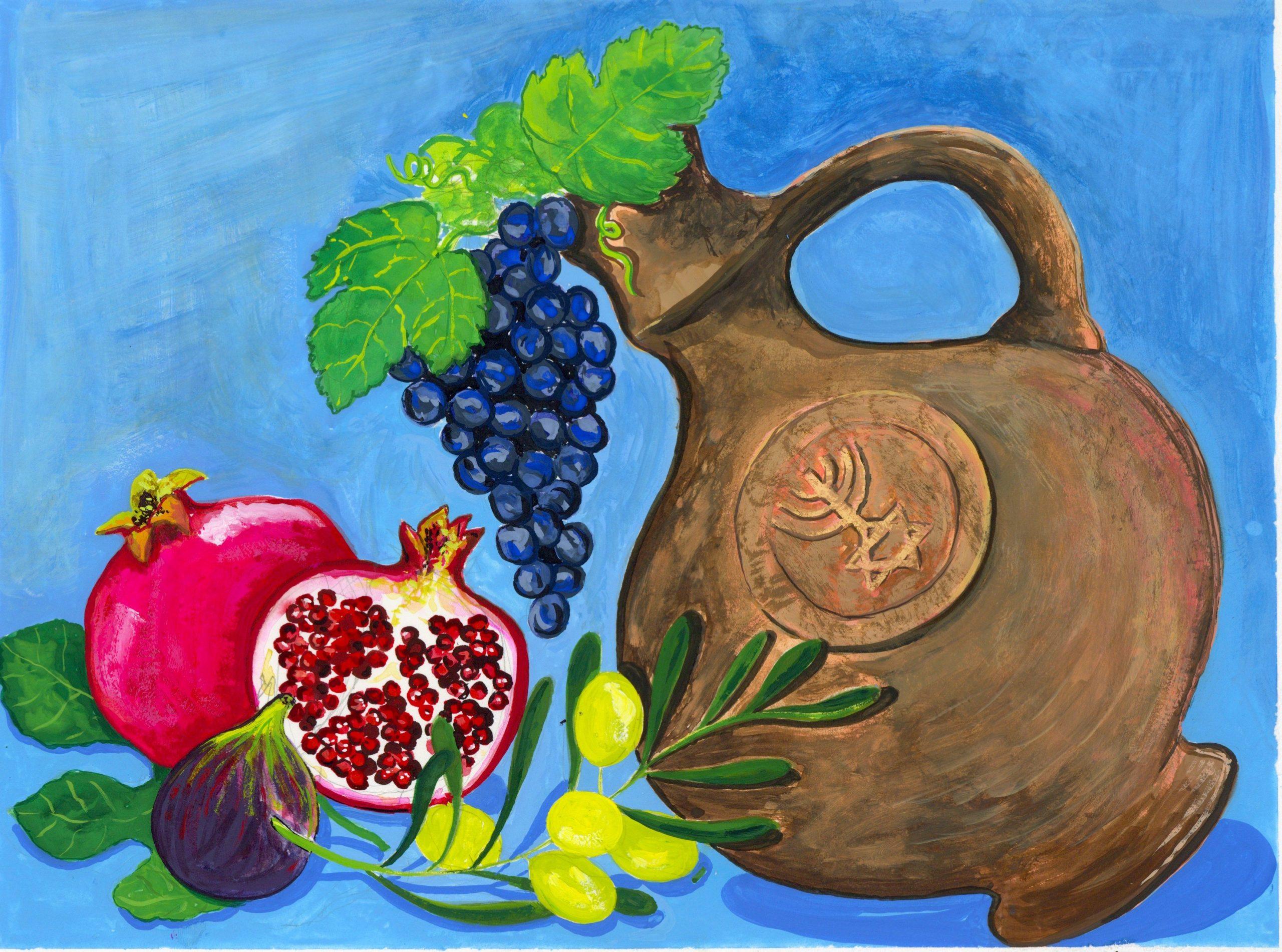 Jug and Fruits